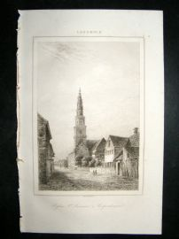 L'Universe C1850's Antique Print St. Sauveur at Copenhagen